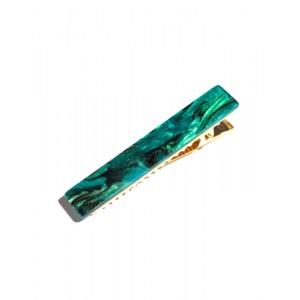 NEBULA Hinged Barrette | Long Hair Pin - Nebula Green
