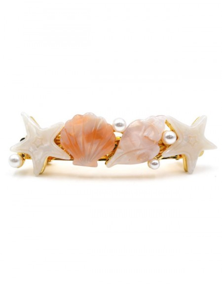 SHELL PARTY Hair Barrette | Pink