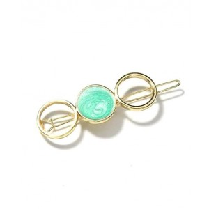 SWIRL Hair Barrette | Pastel Green