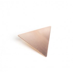TRIANGLE Hinged Barrette | Rose Gold