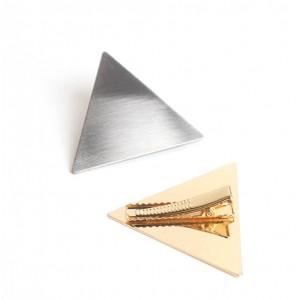 TRIANGLE Hinged Barrette | Silver