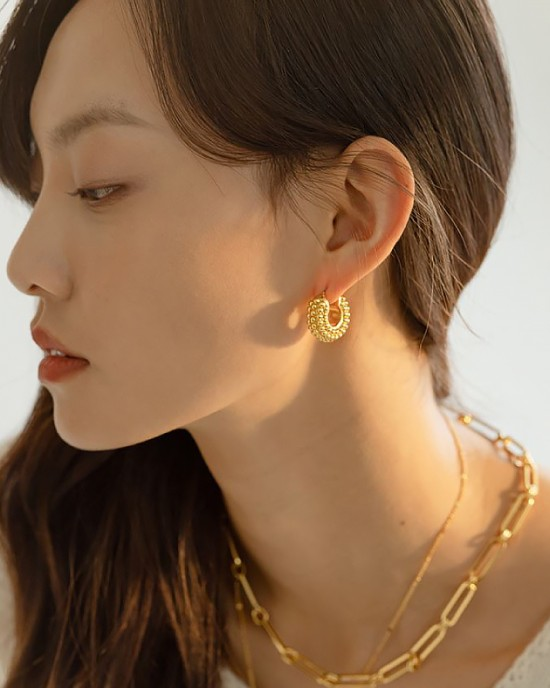ADINA Gold Hoop Earrings