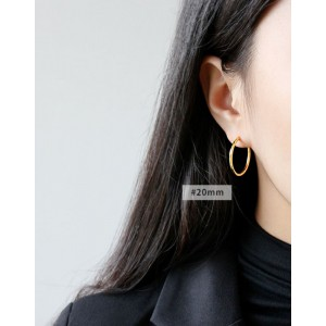 ANAIS Gold Vermeil Hoop Earrings | Medium