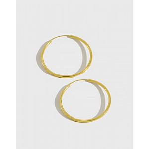 ANAIS Gold Vermeil Hoop Earrings | Large