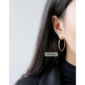 ANAIS Gold Vermeil Hoop Earrings | Large