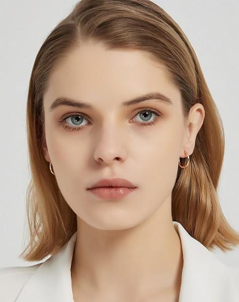 ANAIS Gold Vermeil Hoop Earrings | Small