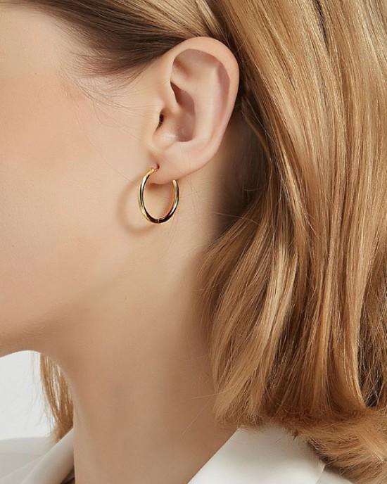 ANAIS Gold Vermeil Hoop Earrings | Medium
