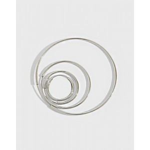 ANAIS Sterling Silver Hoop Earrings | Large