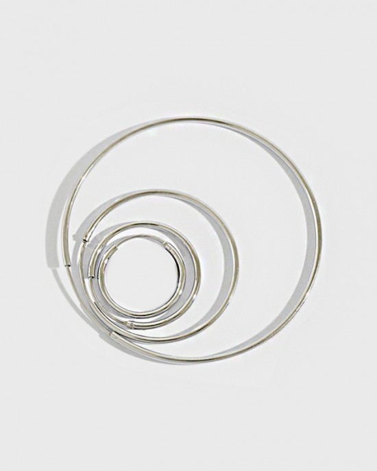 ANAIS Sterling Silver Hoop Earrings | Medium