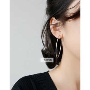 ANAIS Sterling Silver Hoop Earrings | Oversize