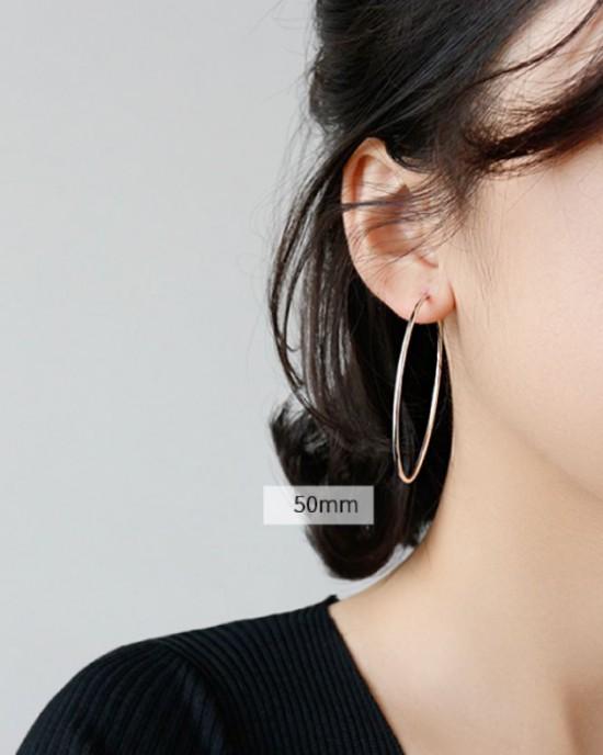 ANAIS Sterling Silver Hoop Earrings | Oversize