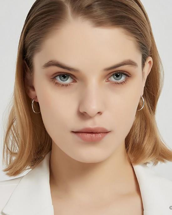 ANAIS Sterling Silver Hoop Earrings | Medium
