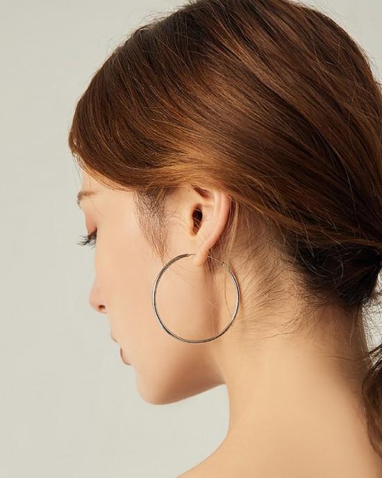 ANAIS Sterling Silver Hoop Earrings | Large