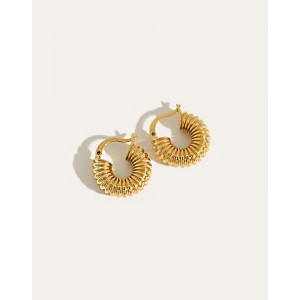 BEA Gold Hoop Earrings