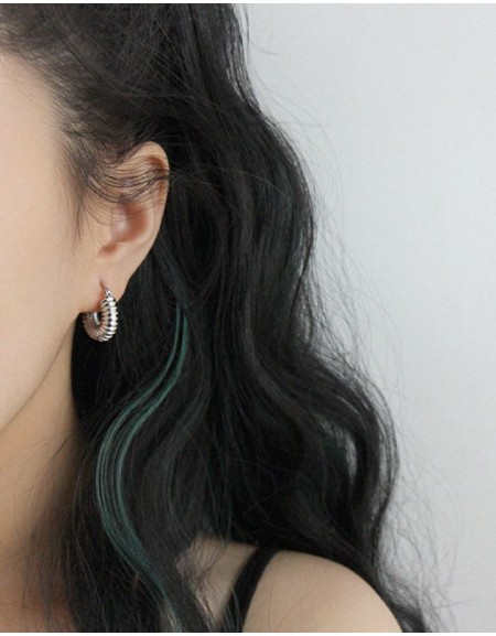 BEA Silver Hoop Earrings