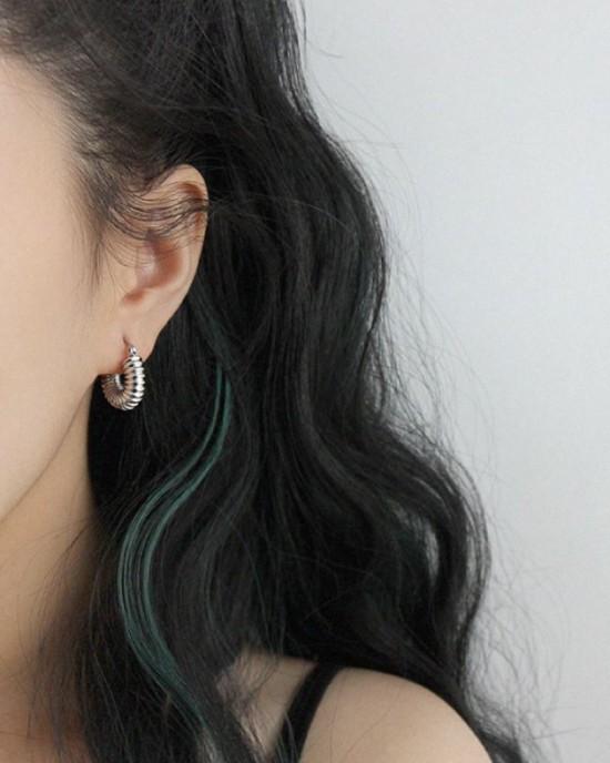 BEA Silver Hoop Earrings