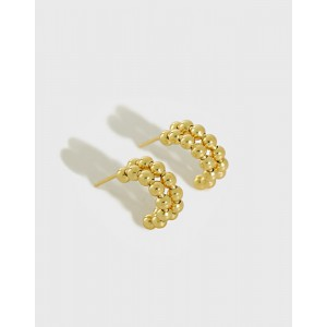 CALLIE Gold Vermeil Open Hoop Earrings