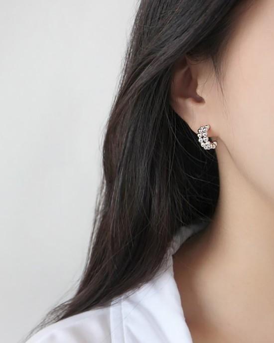 CALLIE Sterling Silver Open Hoop Earrings