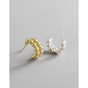 CALLIE Sterling Silver Open Hoop Earrings