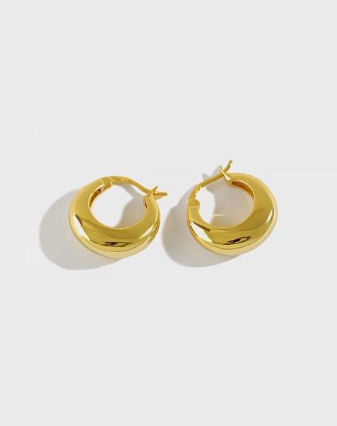 CLARA Gold Vermeil Hoop Earrings