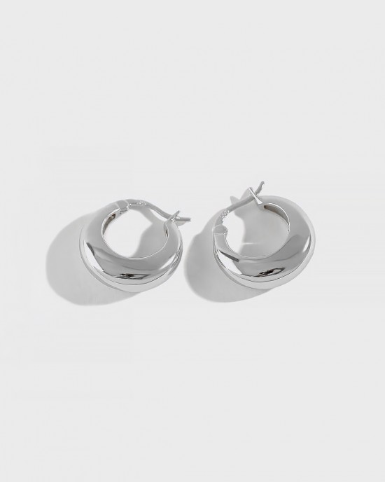 CLARA Sterling Silver Hoop Earrings