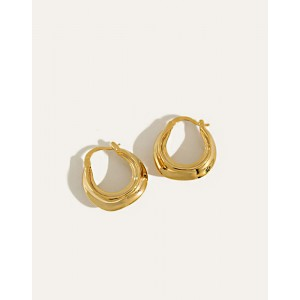 DAPHNE Gold Hoop Earrings