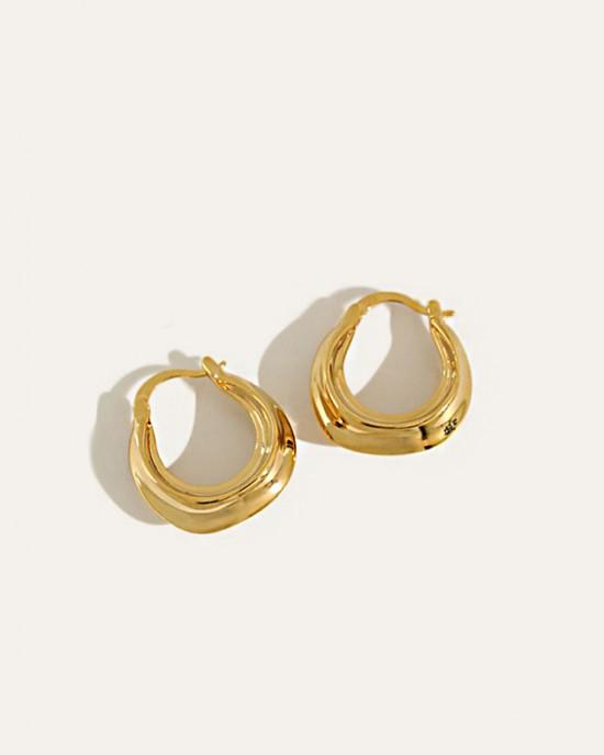 Daphne Gold Hoop Earrings