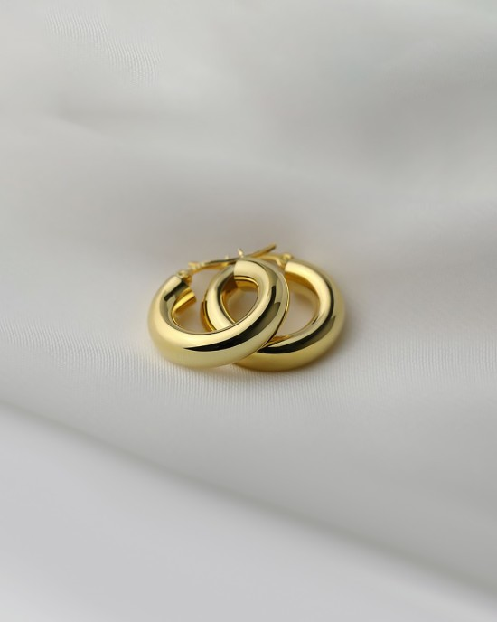 DORA Gold Vermeil Hoop Earrings