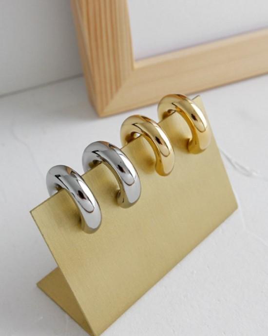 DORA Silver Hoop Earrings