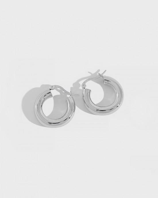 DORA Sterling Silver Hoop Earrings