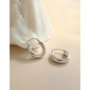 DORA Sterling Silver Hoop Earrings