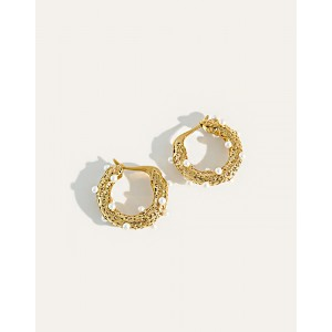 GRACE Gold Hoop Earrings