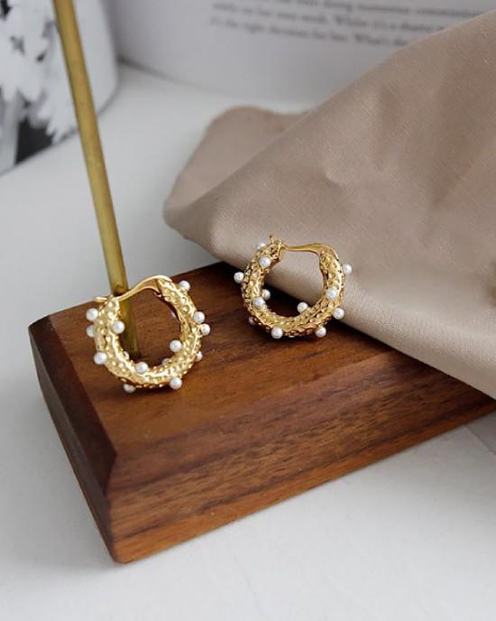GRACE Gold Hoop Earrings