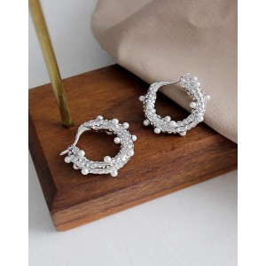 GRACE Silver Hoop Earrings