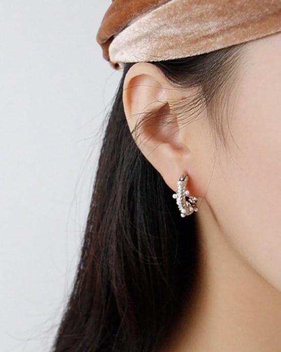 GRACE Silver Hoop Earrings