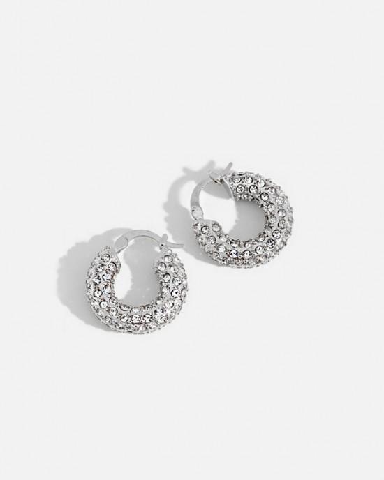 JOLIE Silver Hoop Earrings