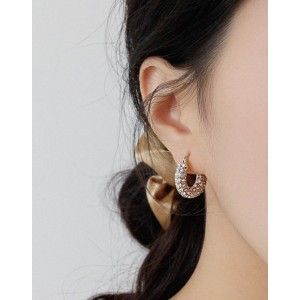 JOLIE Silver Hoop Earrings