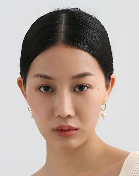 JULIETTE Gold Baroque Pearl Earrings