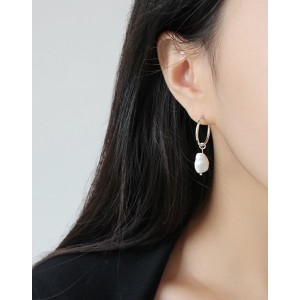 JULIETTE Silver Baroque Pearl Earrings
