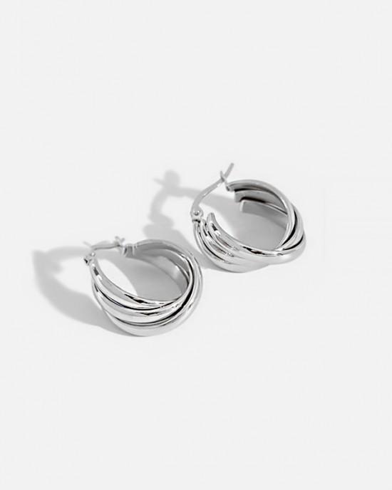 KIARA Silver Hoop Earrings
