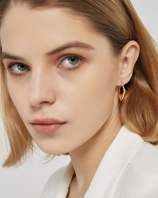 KIRA Gold Vermeil Hoop Earring