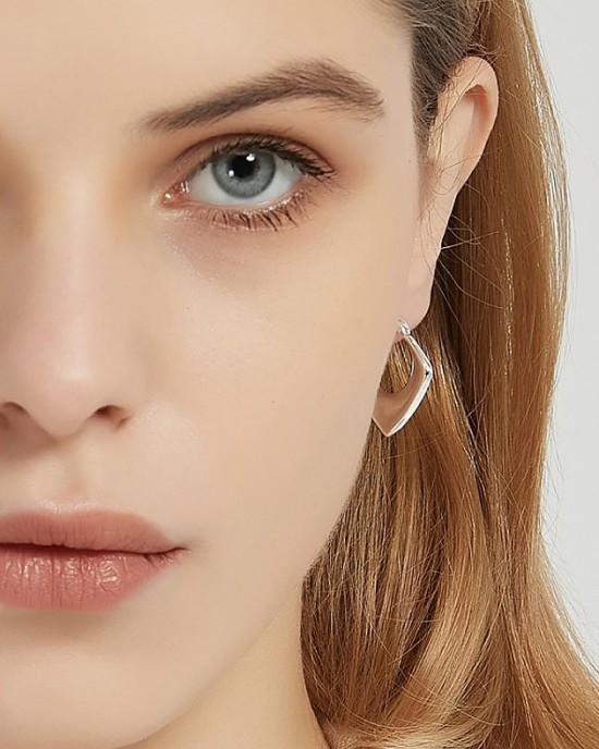 KIRA Sterling Silver Hoop Earring
