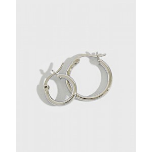 LISA Sterling Silver Hoop Earrings | Small