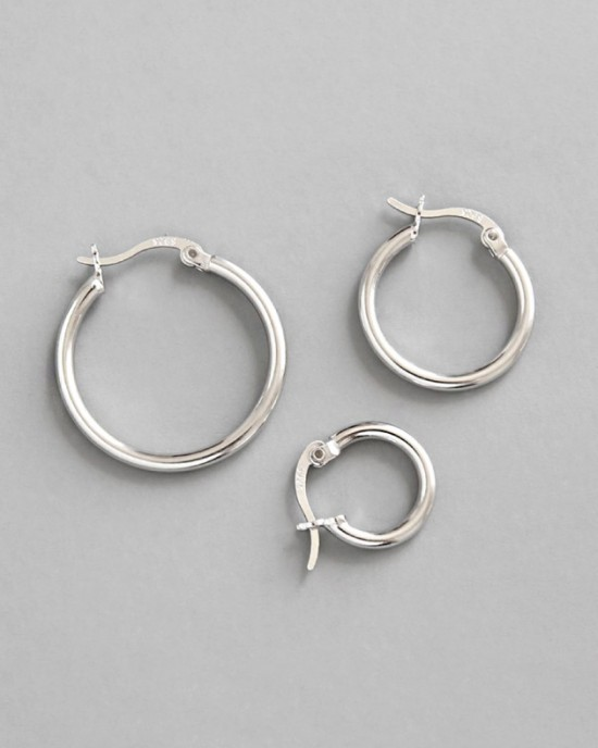 LISA Sterling Silver Hoop Earrings | Small