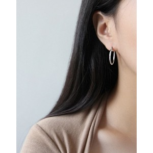 LISA Sterling Silver Hoop Earrings | Large