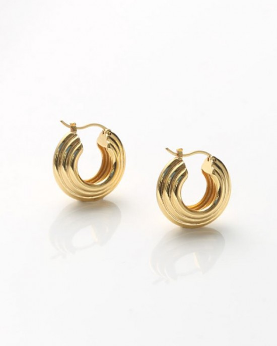 LOUANA Gold Hoop Earrings