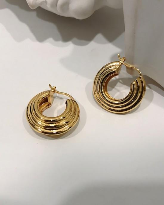 LOUANA Gold Hoop Earrings