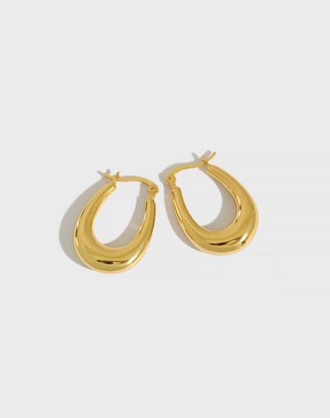 LYRA Gold Vermeil Hoop Earrings