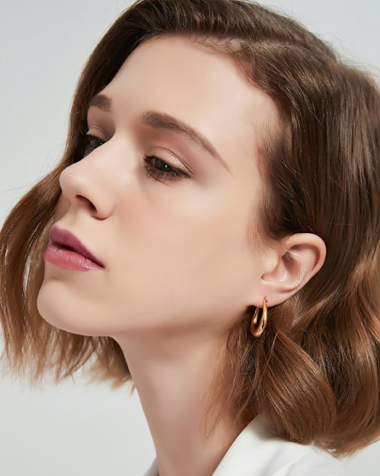 LYRA Gold Vermeil Hoop Earrings