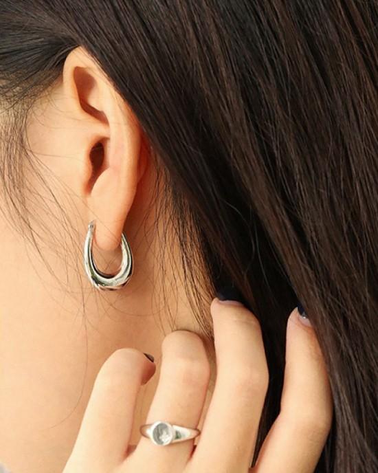 LYRA Sterling Silver Hoop Earrings